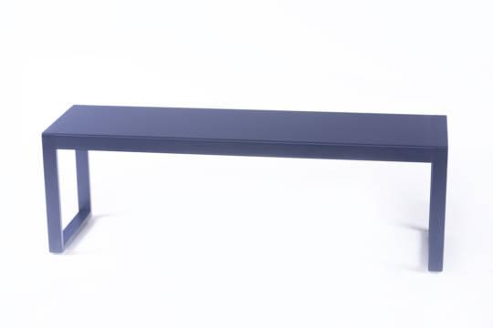 banc en aluminium grand mod le yvone origine metal. Black Bedroom Furniture Sets. Home Design Ideas