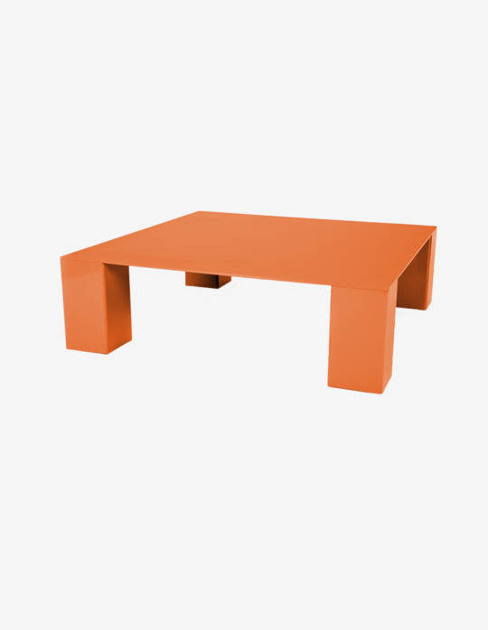 Table-basse-carree-en-aluminium-Yvone-orange-jaune