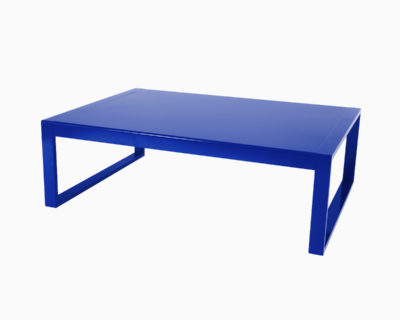 Table basse rectangulaire en aluminium-Yvone