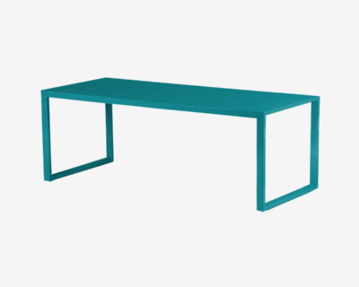 Table haute rectangulaire en aluminium-Yvone