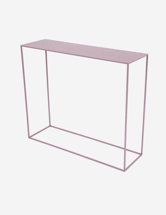 Console-en-acier-Celestyne-violet-pastel