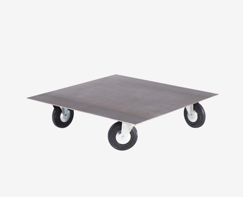 Table basse en acier sur roulettes-Jeane