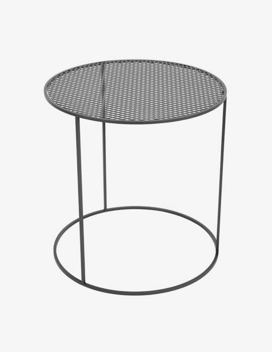 table basse ronde en acier celestyne origine metal cr ation de meubles en m tal sur mesure. Black Bedroom Furniture Sets. Home Design Ideas