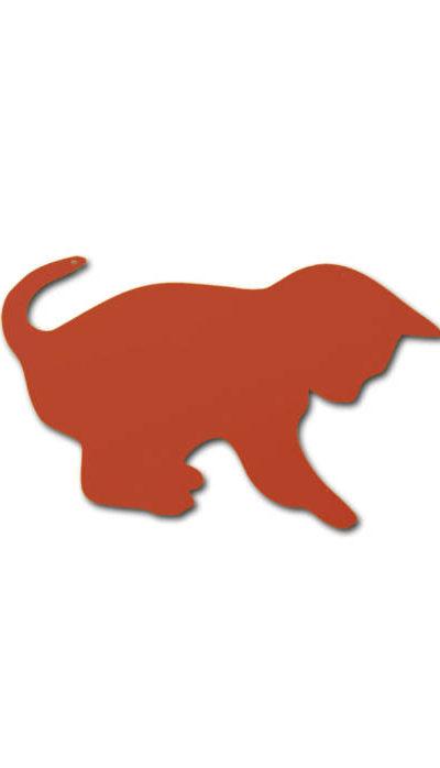 Dessous de plat en acier chat joueur