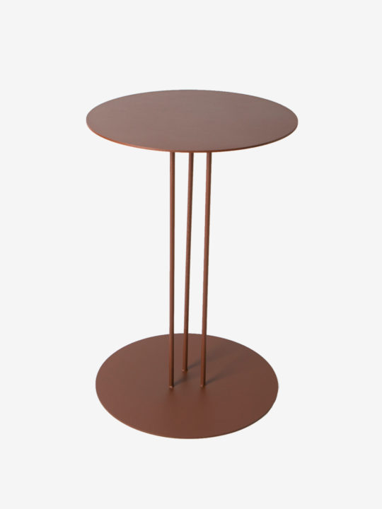 Table basse ovale en acier jeane origine metal - Table d appoint contemporaine ...